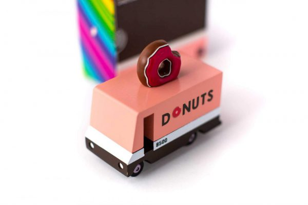 CANDYLAB. Candyvan ξύλινο όχημα Donut Truck (μαύρο-ροζ)