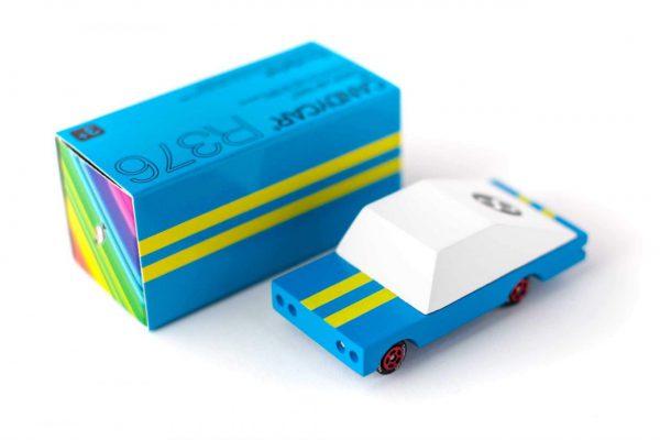 CANDYLAB. Candycar ξύλινο αυτοκίνητο Βlue Racer (μπλε-λευκό)