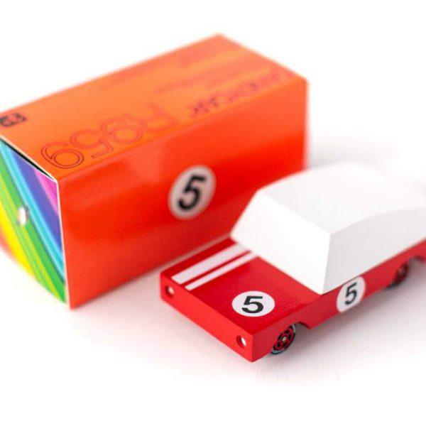 CANDYLAB. Candycar ξύλινο αυτοκίνητο Red Racer (κόκκινο-λευκό)