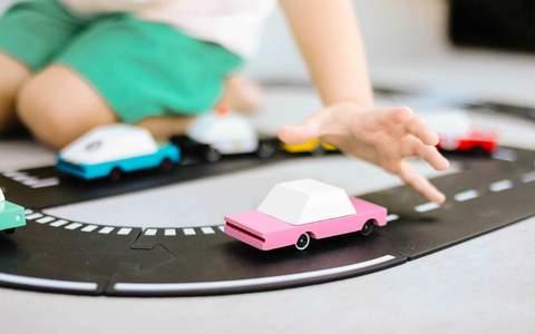 CANDYLAB. Candycar ξύλινο αυτοκίνητο Pink Sedan (ροζ-λευκό)