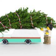 CANDYLAB. Candycar ξύλινο αυτοκίνητο Teal Wagon (πράσινο-λευκό)